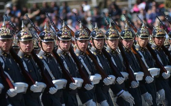 Prusianos del ejercito chileno en parada militar