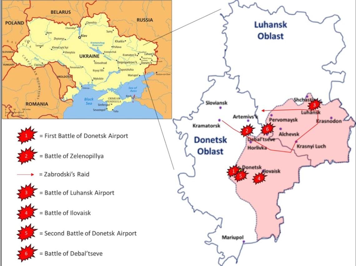 Ataque de Mykhailo Zabrodski en Donbass y otras batallas