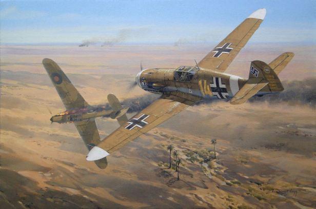 Hans-Joachim-Marseille-Bf-109-Painting