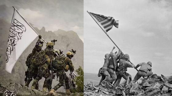 taliban bandera burla EEUU